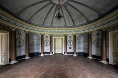 Rotunda (Alexandre Katuszynski) Tags: abandoned abandonedcastle abandonedpoland urbexpoland rotonde decay derelict symmetry symmetrical verlassen forgotten luoghiabbandonati