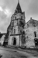 01-Eglise d'Abjat (Alain COSTE) Tags: 2019 abjatsurbandiat dordogne eglise nikon noiretblanc ocb sigma20mmf14 village périgordvert france