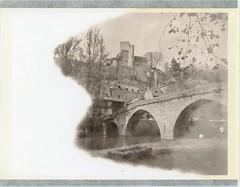 P078 (charlesguerin) Tags: boyer béryl boyer90mm polaroid bridge river castle aveyron 554 mpp 4x5 expired spring