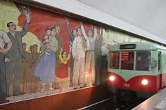 Murals at Kaeson 개선 Metro (Ray Cunningham) Tags: realist socialist dprk north korea murals kaeson 개선 metro mosaic