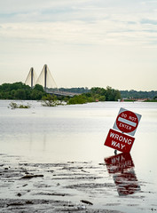 Mississippi River Flooding (Wits End Photography) Tags: alton landscape flooding nature water reflections outdoor river pj objects photojournalism illinois watercourse reflection waterway places mirror country exterior natural outside picturesque rural scenic view