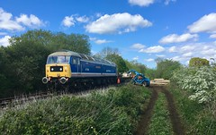 47596 on an engineering train to Worthing 11/5/19 (P Way Owen) Tags: class47 train loco railway norfolk mid hoe worthing 47596