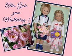 Happy Mother's Day ! (ursula.valtiner) Tags: puppe doll luis bärbel künstlerpuppe masterpiecedoll muttertag mothersday
