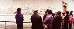 Panathenaic Procession (Myahcat) Tags: panoramic film 35mm lomo lomography london kodak horizonperfekt people peoplewatching museum britishmuseum
