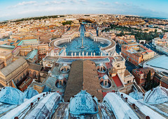 View from the Cúpula (Octal Photo) Tags: 500px rome italy vatican catholic church st peters basilica di san pietro building exterior tower townscape cityscape architecture old town plaza square clear sky landscapes view from cúpula holysee