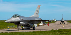 USAF F16 Fighting Falcon (Thomas Wraight) Tags: f16 f16fightingfalcon generaldynamics multirolefighter airsuperiorityfighter multirolecombataircraft raflossiemouth usaf usairforce usamilitary usmilitary usairforceeurope usafe aviation aircraft flight warbirds military militaryaircraft combataircraft combat jet fastjet supersonic photography picture capture canon digital digitalphotography thomaswraight thomaswraightphotography uk moray lossiemouth northeastofscotland scotland canon7dii ef100400mmf4556lisiiusm 100400