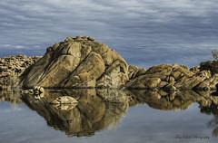Granite boulders reflecting in Watson Lake (TAC.Photography) Tags: 2019yip d7500 arizona southwest west reflection boulders redrock watsonlake prescott prescottarizona water lake granite allofarizonaphotography