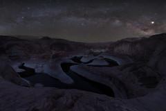 Night Snake (Darkness of Light) Tags: reflection canyon escalante utah wave river powell lake las vegas arizona nevada milkyway milky way sony a7r3 a7riii zeiss loxia f28 21mm panorama night