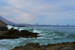 Olas (juroldfotografia) Tags: mar chile peru latinoamerica viajes travel paisajes landscape bote nikon d3200 azul sky beautiful maritimo sea water blue nature naturaleza olas orilla