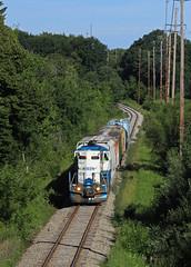Rolling out of Grand Rapids (GLC 392) Tags: mmrr gre mid michigan grand rapids eastern railroad railway train emd gp9 24 mi gw freight ada