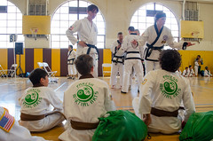 Going over the details (TheBurgners) Tags: tournament wtsda sanfrancisco missionhigh paresh tang soo do