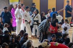 Catching up with Gena (TheBurgners) Tags: tournament wtsda sanfrancisco missionhigh paresh tang soo do