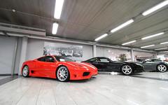 Ferrari 360 Challenge Stradale. (Tom Daem) Tags: ferrari 360 challenge stradale garage deman brussels brussel clk gtr amg