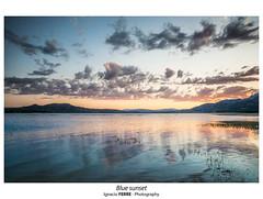 Blue sunset (Ignacio Ferre) Tags: embalsedesantillana manzanareselreal madrid españa spain landscape paisaje lago lake naturaleza nature sunset puestadesol nikon blue azul