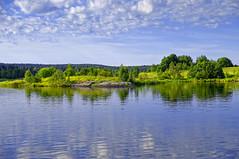 Ladoga coast (ALEX_V_65) Tags: озеро ладожское берег lake summer coast nature landscape grass forest sky water river field tree wood