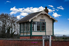 Old Moira train station signal box (Photographs and Images of Northern Ireland) Tags: sunset sunrise northern ireland ulster county red hand orange views scenic waterfalls rivers golf courses fishing giants causeway tourists travel belfast derry londonderry brexit border antrim castle park walks tollymore forest