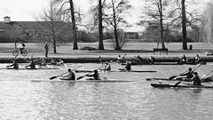 Boat race on the River Thames (kerwitcherwoo) Tags: reading berkshire caversham cavershamcourt blackandwhite bw monochrome boating river thames england outdoors cmwdblackandwhite