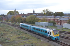 Transport for Wales Coradia 175002 (Will Swain) Tags: shrewsbury severn bridge junction signal box shropshire train trains rail railway railways transport travel uk britain vehicle vehicles england english europe signals network 27th october 2018 for wales coradia 175002 class 175 002