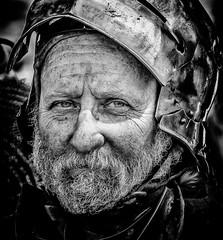Man in a can (Andy J Newman) Tags: fayre portrait man nikon medieval silverefex blackandwhite d500 bandw black candid monochrome fair glastonbury beard england unitedkingdom