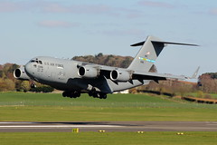 Prestwick AFB (01-0186) (Fraser Murdoch) Tags: united states air force usaf 0186 010186 boeing c17 dover afb de delaware 436th aw airlift wing mobility command 512th 436 512 pik egpk military transport canon eos 650d aviation aircraft plane fraser murdoch photography mound scotland scottish