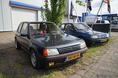 1987 Peugeot 205 GTI 130 & 1992 Peugeot 309 GTI (NielsdeWit) Tags: nielsdewit car vehicle hsfr91 peugeot 205 gti 130 1987 dspj22 309 1992 v725tn ede