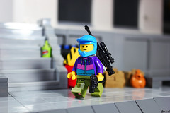 Stephan is going to work, who knows what job is ... (Devid VII) Tags: devid devidvii moc minifig minifigs minifigures minifigure military work lego diorama scenes
