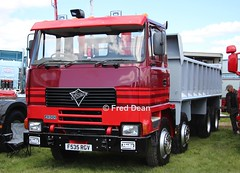 Foden Tipper Truck (F535GRV). (Fred Dean Jnr) Tags: waterfordtruckmotorshow waterford tramoreracecourse tramore truck lorry may2019 foden tippertruck f535grv