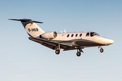 D-IHEB Silver Cloud Air Cessna 525 Citation CJ1 (buchroeder.paul) Tags: eddl dus dusseldorf düsseldorf international airport germany europe flughafen final dusk diheb silver cloud air cessna 525 citation cj1