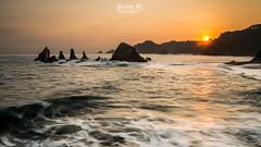Gueirua sunrise (Hervé D.) Tags: geirua playa plage asturies aturias sunrise sea mer océan leverdesoleil