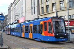 Stagecoach Supertram 399203 (Will Swain) Tags: sheffield 1st november 2018 bus buses transport travel uk britain vehicle vehicles county country england english yorkshire yorks south city centre stagecoach supertram 399203 class 399 203