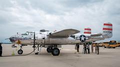 B-25 Mitchell maintenance ops (ep_jhu) Tags: xt3 andrewsafb aircraft mitchell aafb land ww2 tarmac fujifilm ramp md airplane b25 jsoh military aviation andrewsairforcebase legendsinflight fuji airshow n9079z bomber 2019 wwii jointbase andrewsfield maryland unitedstatesofamerica