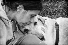 lovers (andaradagio) Tags: andaradagio bianconero bw canon dog cane miglioramicodelluomo nadiadagaro littledoglaughedstories littledoglaughednoiret