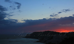 (BaldoBi95) Tags: sea mare bluie blue infinity realmonte agrigento sicilia landscape paesaggi cielo azzurro barca ship sunset tramonto red orange orangesky flowers yellow purple