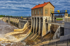 The Dam (Kool Cats Photography over 12 Million Views) Tags: bluesky clouds rushingwater spillway photography water dam lakehoverholser river architecture hdr canoneos6d ef1635mmf4lisusm