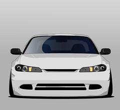 W.I.P Vector Art (sd_graphcs) Tags: nissan silvia s15 vector art edc graphc car illustrator design lfs jdmcars flickrunitedaward formula flickr xenon