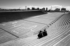 Ōsanbashi Pier - Yokohama, Japan (petrwag) Tags: sonya6500 sel1670z bw blackandwhite blancoynegro blackwhite noiretblanc noirblanc nihon nippon japan japón japon yokohama černobílé clickcamera carlzeiss