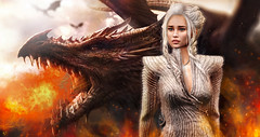 For the Throne (meriluu17) Tags: session got fantasy dragon dragons daenerys khaleesi queen mother motherofdragons fire burn dracarys throne fight surreal power majestry her she stormborn dani dany monso enchantment