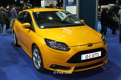 Ford Focus ST (12C10773). (Fred Dean Jnr) Tags: riacnationalclassiccarshow2013 ford focus st 12c10773 rds simonscourt dublin february2013 riac yellow