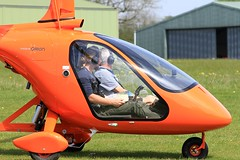 G-OWLS Magni M24C Orion (BIKEPILOT, Thx for + 5,000,000 views) Tags: popham eghp hampshire uk airport airfield aerodrome aircraft autogyro orange flying flight aviation rotarywing england britain gowls magni m24corion person people