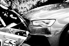Face, Off (Monochrome) (d0mokun) Tags: 25l 8v bw caffeinemachine daytonagrey gsx j15lsc motorbike quattro r750 re16nlf rs3 suzuki audi auto babysupercar bike blackandwhite car cars fastcars l5 monochrome petrolhead straight5 superbike stratforduponavon england unitedkingdom