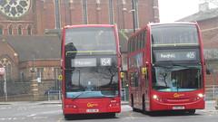Go-Ahead London General - Route 154   LX58 CWP, DOE3   Optare Olympus Dennis Trident 2, & Go-Ahead Metrobus - Route 405   LX57 CKF, E77   Alexander Dennis Trident 2 Enviro400 @West Croydon Bus Station (DaniThePancake) Tags: londonbusroute405 londongeneral goaheadmetrobus westcroydonbusstation alexanderdennisenviro400 optareolympus dennistrident2 goaheadlondone77 goaheadlondondoe3 londonbusroute154 londonbuses