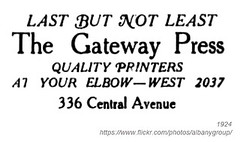 1924 gateway press (albany group archive) Tags: albany ny history 1924 gateway press printing 336 central avenue 1920s old vintage photos picture photo photograph historic historical albay
