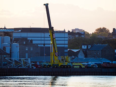 Evening Light. (HivizPhotography) Tags: liebherr ltm1750 91 whyte crane hire aberdeen lifting heavy harbour sea scotland uk mobile construction infrastructure industry