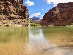 This is the view from my new favorite camp I the Grand Canyon. Long exposures let you peer through the water and see the beautiful sand ripples below the Colorado River. #GrandCanyon #colorado #river #coloradoriver #arizona #nationalpark #findyourpark #wh