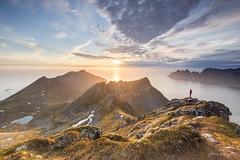 Midnight Sun (Croops Photo) Tags: norway senja midnight sunset mountains adventure treck