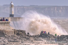 Come on kids, lets get a photo with the big wave!!! (technodean2000) Tags: porthcawlsouthwalesukstormsapril2019seacoastlight porthcawl south wales uk storms april 2019 sea coast light storm hannah ©technodean2000 welsh nikon d810 lightroom photographer technodean2000 lr ps photoshop nik collection flick photo flickr wwwflickrcomphotostechnodean2000 www500pxcomtechnodean2000