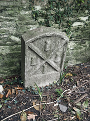 parish boundary marker (chrisinplymouth) Tags: marker stone boundarymarker parishboundarymarker carved plymouth devon xg england uk date historicalmarker parish city cw69x 1893 victoriapark urb