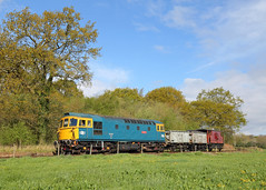 The Blues (Treflyn) Tags: br blue british rail brcw class 33 crompton 331 33102 sophie top foxfield bank loaded coal wagon emrps east midlands railway photographic society photo charter