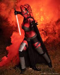 Darth Talon (S1Price Lightworks) Tags: darth talon cosplay girl sith star wars cosplayer nerdy lightsaber jedi force photoshoot night smoke canon usa eos r 35mm gels