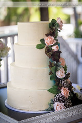 Simple Cake With Florals (Laura K Bellamy) Tags: wedding weddings cake reception